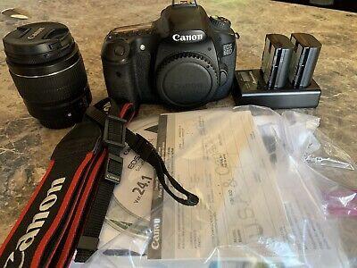Canon EOS 60D 18.0MP Digital SLR Camera - W/ Canon 18-55mm Lens *NEAR MINT*