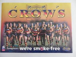 ADELAIDE CROWS 1997 AFL OFFICIAL TEAM POSTER Alberton Port Adelaide Area Preview