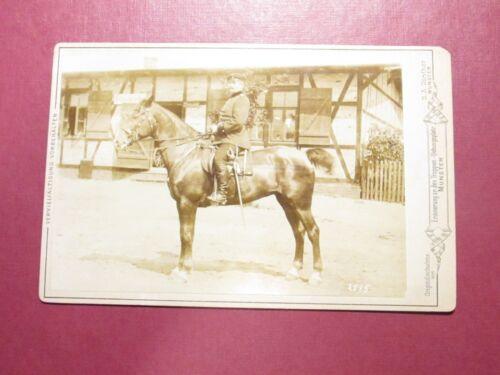 WW I Era Cabinet Card, Erinnerung an den Truppen-Uebengsplatz MUNSTER