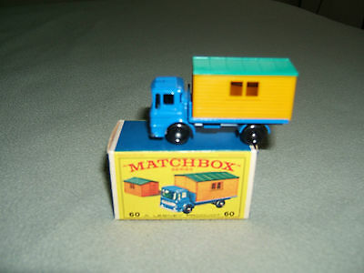 1970 Matchbox TRUCK WITH SITE OFFICE  Original Box #60