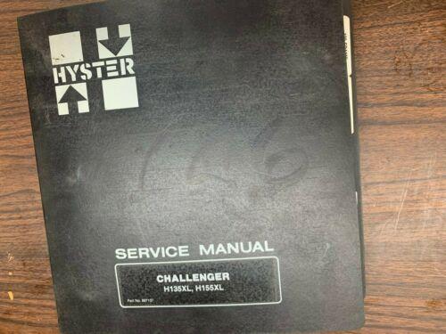 HYSTER H135XL- H155XL SERVICE MANUAL # 897137