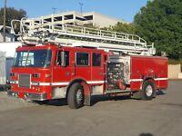 1995 Pierce Arrow 50 foot ladder fire truck Telesquirt