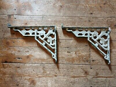 Old cast iron shabby chic brackets