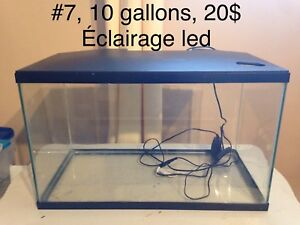 Aquariums 5 et 10 gallons