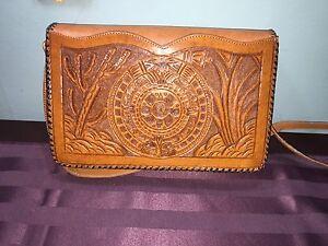 Hand Made Leather Mayan Purse