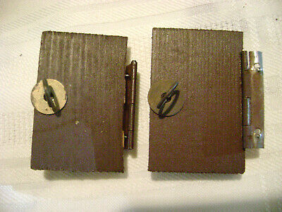 """Lot Of 2 Vintage German Wood Cuckoo Clock Doors 1.25"""" X 1 7/8"""" (door rim)"""