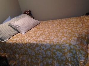 1930's double bed with two side tables