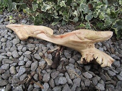 Fair Trade Indonesian Hand Carved Made Double Lizard Reptile Parasite Sculpture