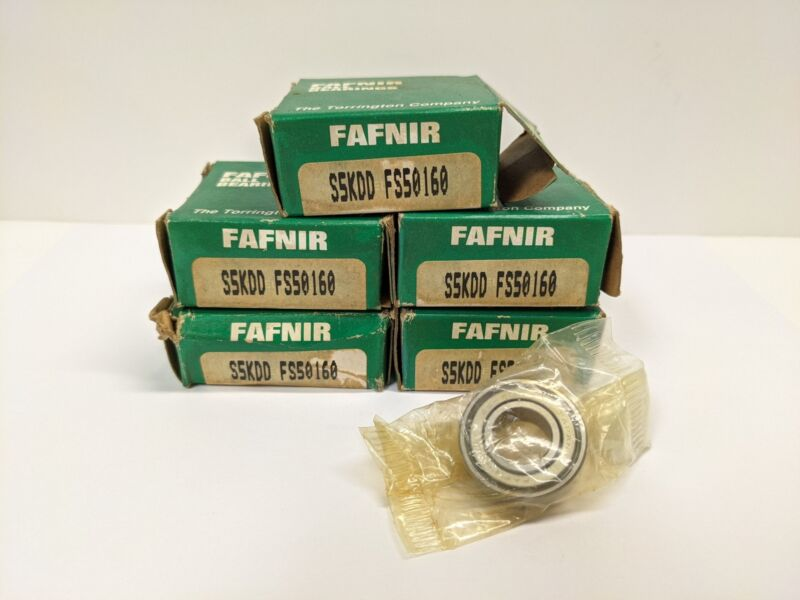 TIMKEN/FAFNIR S5KDD Lot of 5 Roller Bearing Both Sides Steel Seal-NOS