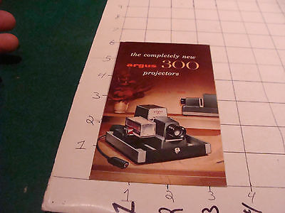 vintage paper: ARGUS 300 PROJECTORS catalog/brochure I show the entire item 1956