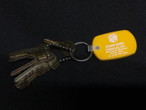 Rinke Cadillac Dealership Keychain w/ Actual Dealership Door Keys