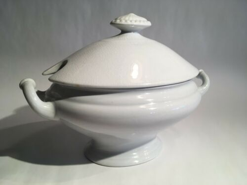 "Antique ""Imperial"" White Ironstone China Covered Sauce Tureen C.C. & Co."