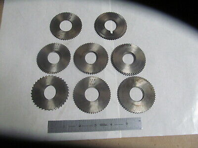 16 Trw Metal Cutting Slotting Saws 8 Different Sizes 1 Bore Usa Made.