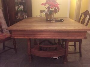 Antique table and chairs  ( free local delivery )