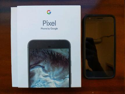 Google pixel xl 32gb and rhinoshield bumper case