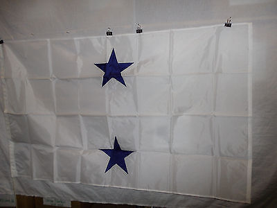 flag557 US Navy 2 Star Rear Admiral White flag w/snap