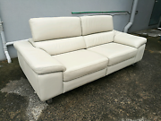 100% leather 3 seater with adjustable headrest Mentone Kingston Area Preview