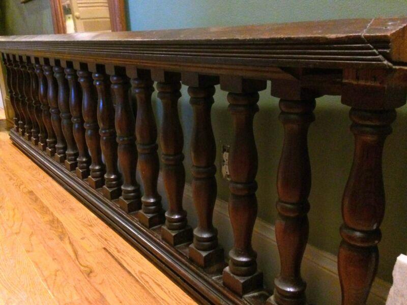 Antique Walnut Balustrade Railing