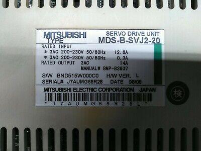 Mitsubishi Electric Mdsbsvj220 Servo Drive Unit From Mori Seiki Cl150 No Cover.