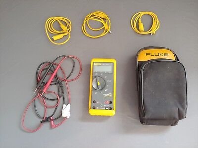 Fluke 73 Iii Multimeter With Extra Leads Case Tested Used