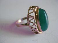 Anello Oro 585 Con Crisoprasio -  - ebay.it