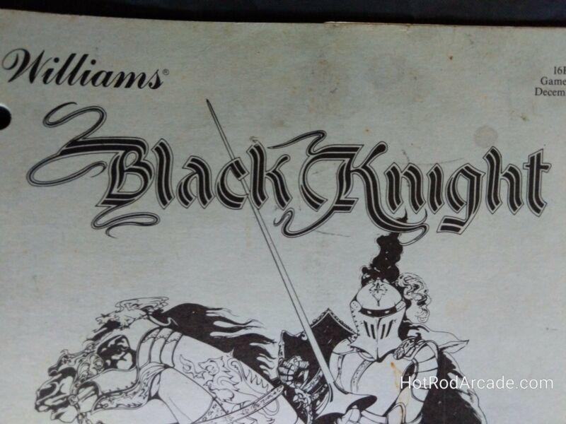 Black Knight - Williams - Pinball Manual  -- Used