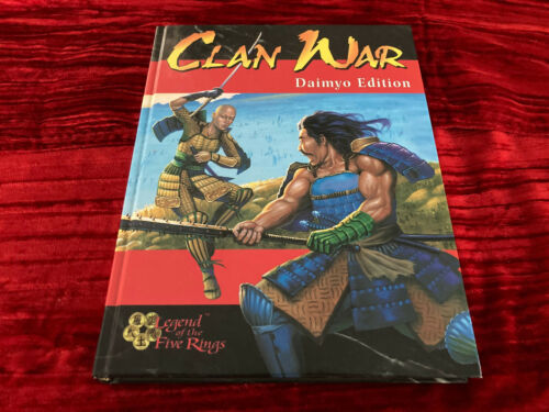 Clan War Daimyo Edition Hardcover Rulebook CD Included L5R