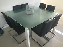 Glass square dining table Kurwongbah Pine Rivers Area Preview