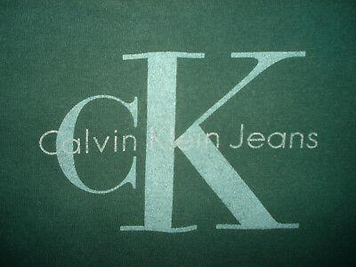 Vintage 90s CALVIN KLEIN JEANS T SHIRT CK Rap Hip Hop 1990s Fashion LARGE