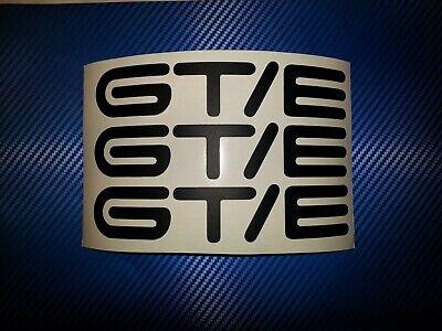 GT/E Emblem Aufkleber Kadett C schwarz matt  3 Stück