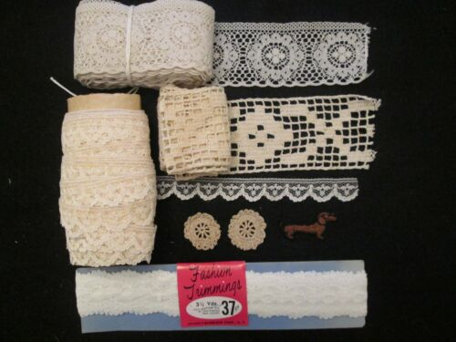 Vintage Antique Lace Lot #2 Appliques for Sewing Trim Wedding Crafts Estate