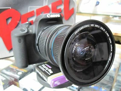 Ultra Wide Angle Macro Fisheye Lens for Canon Eos Digital Rebel T6i SL2 T7i XTi