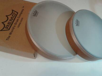 """REMO pre-tuned hand drums - 10"""" and 8"""" - $75 set North Bondi Eastern Suburbs Preview"""