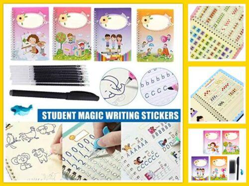 ✅ Sank Magic Practice Copybook Set For Kid Reusable English Calligraphy Book ✒️