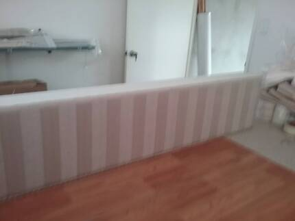 Curtains and padded pelmet, track also
