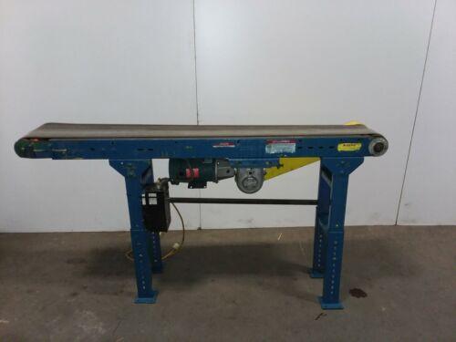 """Hytrol 72"""" Slider Bed Belt Conveyor 10"""" Belt Variable Speed 120v"""