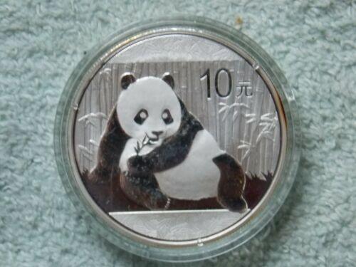 2015 Chinese Silver Panda 10 Yuan 1 OZ BU