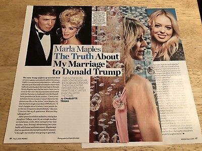 MARLA MAPLES & DONALD TRUMP  -   3-Page Magazine Article Clipping