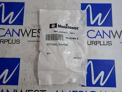 Manitowoc 43-0388-3 Replacement Part Water Fitting 4303883 New