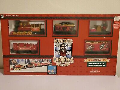 1996 Toy State North Pole Express Christmas Battery Operated Animated Train Set