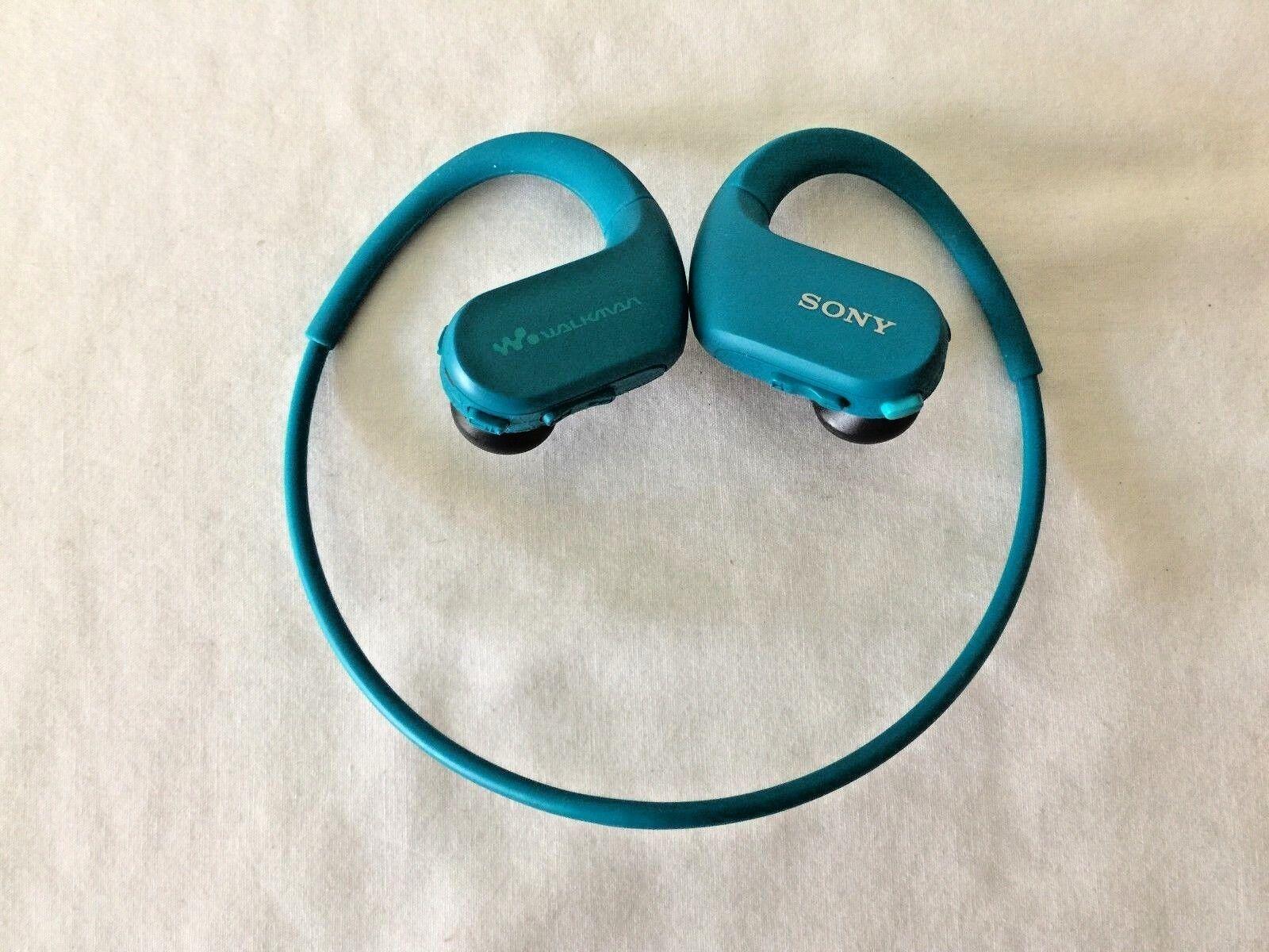 Sony Walkman NW-WS413 Blue 4GB Sports Wearable MP3 NWWS413 Waterproof READ 2 - $14.29