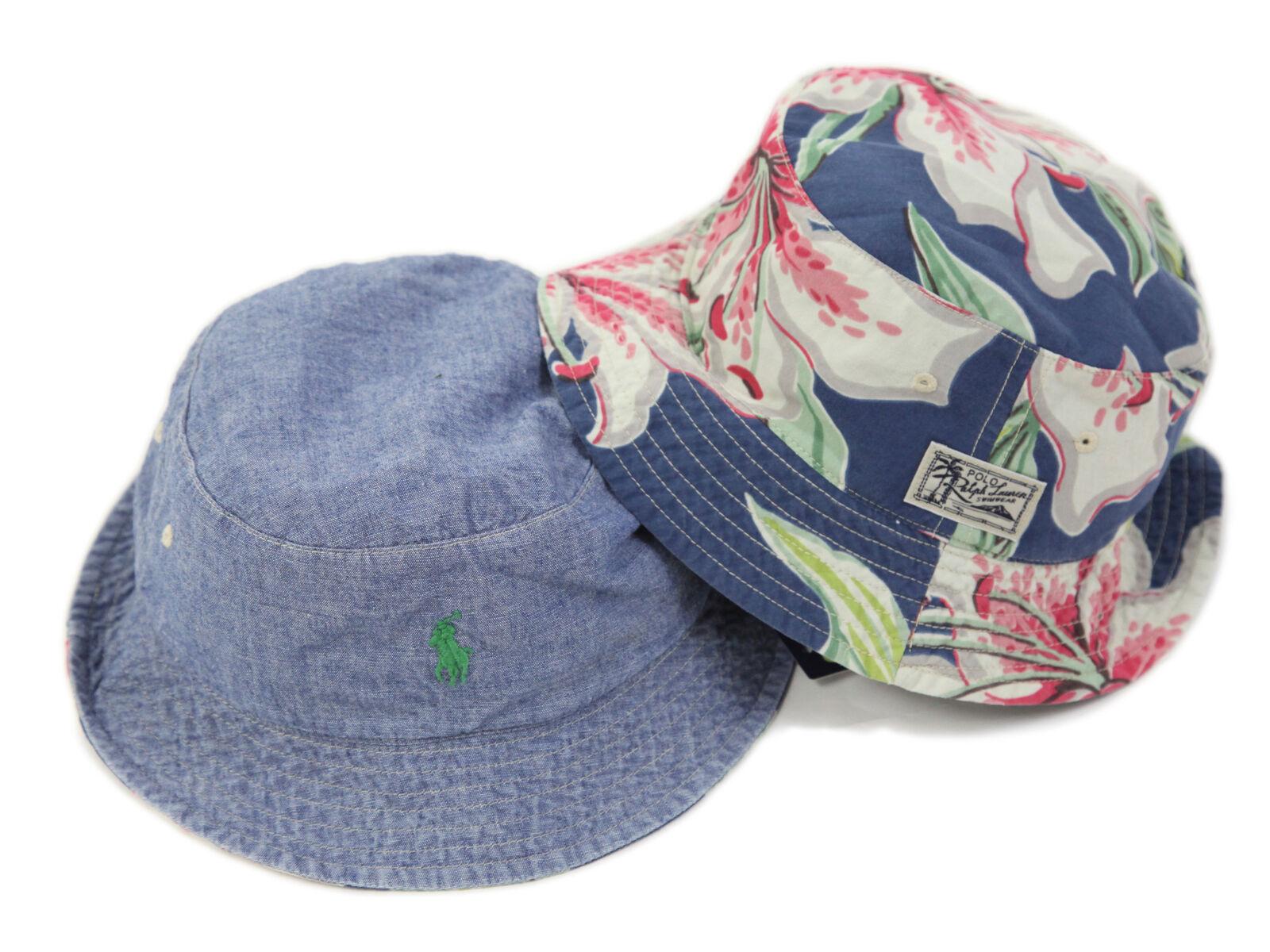 Polo Ralph Lauren Reversible Safari Bucket Hats Caps wpony floral aloha