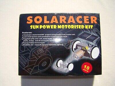 Solar Power Motorized Racer Vehicle Kit Kids Educational Science Toy 10+up