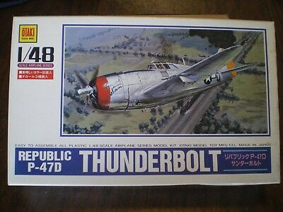 (OTAKI 1:48 Scale REPUBLIC P-47D THUNDERBOLT   WW II FIGHTER   Prepaid in U.S.A. )