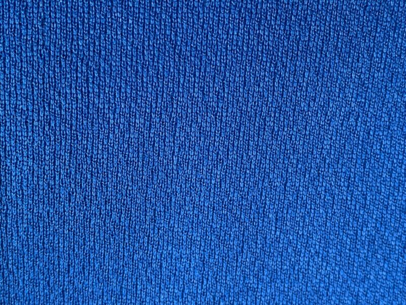 6 Yards Of Vintage Blue Polyester Double Knit Fabric