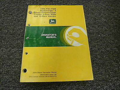John Deere 7200 8 Wide 12 Narrow Drawn Planter Owner Operator Manual Oma51905