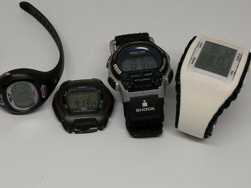 4 sport watches, Timex, Casio, Reebok
