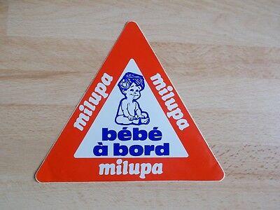 Autocollant / sticker vintage MILUPA Bébé à bord