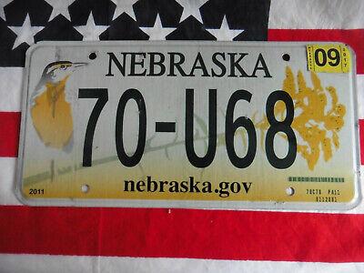 US NEBRASKA BIRD 70 U68 AUTO CAR KENNZEICHEN NUMMERNSCHILD PLATE SCHILD OF USA