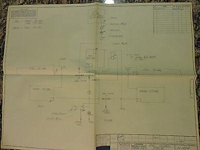 """""""Super Rare"""" Original Lockheed P-80R Fuel system blueprint diagram Dated 1946"""